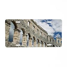 Croatia, Istria, PULA. Roma Aluminum License Plate