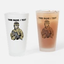 Custom Army Soldier Drinking Glass