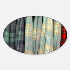 Scotland. Typical tartan skirts. Decal