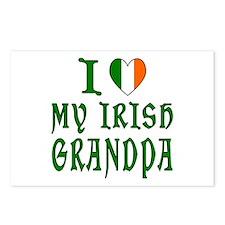 I Love My Irish Grandpa Postcards (Package of 8)