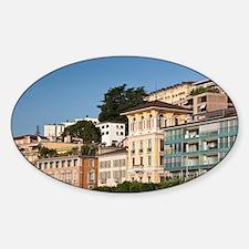 Switzerland, Ticino Canton, Lugano. Sticker (Oval)
