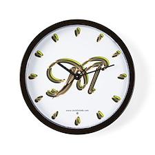 Phyllis Initial M Wall Clock