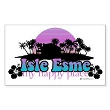 isle esme happy place for ligh Decal