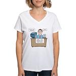 Penis Password Too Short Women's V-Neck T-Shirt