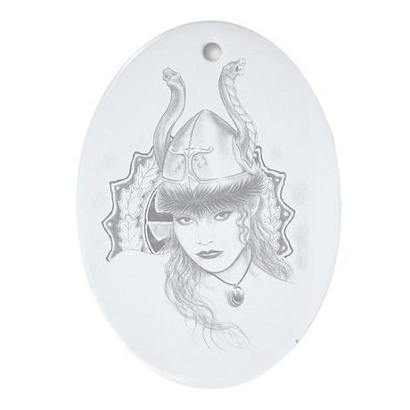 Irminic Valkyrie Oval Ornament