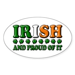 Irish and Proud of It 3D Oval Decal