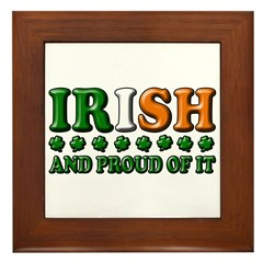 Irish and Proud of It 3D Framed Tile