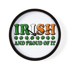 Irish and Proud of It 3D Wall Clock
