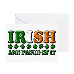 Irish and Proud of It 3D Greeting Cards (Package o