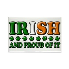 Irish and Proud of It 3D Rectangle Magnet