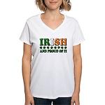 Irish and Proud of It 3D Women's V-Neck T-Shirt