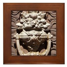 Carved knocker Framed Tile