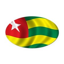 togo_flag Oval Car Magnet