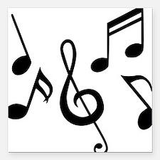 "music_notes Square Car Magnet 3"" x 3"""