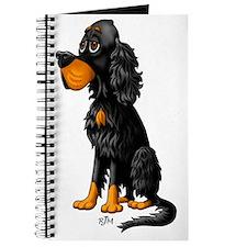 Gordon Setter Cartoon Single Journal