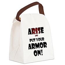 arise-armor Canvas Lunch Bag