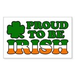 Proud to Be Irish Tricolor Rectangle Sticker