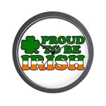 Proud to Be Irish Tricolor Wall Clock