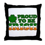 Proud to Be Irish Tricolor Throw Pillow