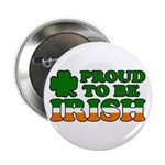 Proud to Be Irish Tricolor Button