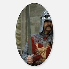 Europe, England, Warwick Castle. Me Sticker (Oval)