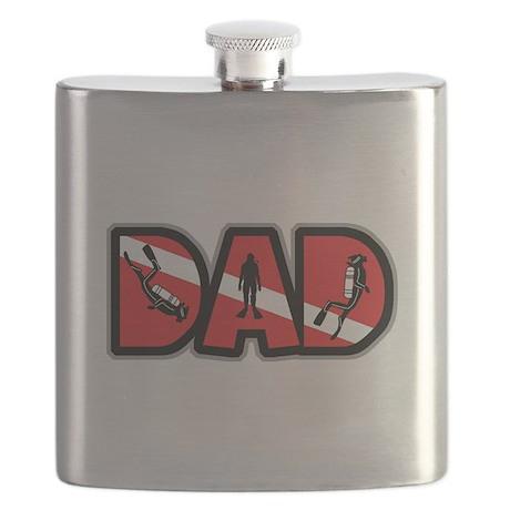 SCUBA Dad Flask