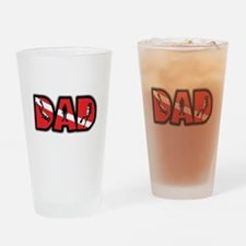 SCUBA Dad Drinking Glass