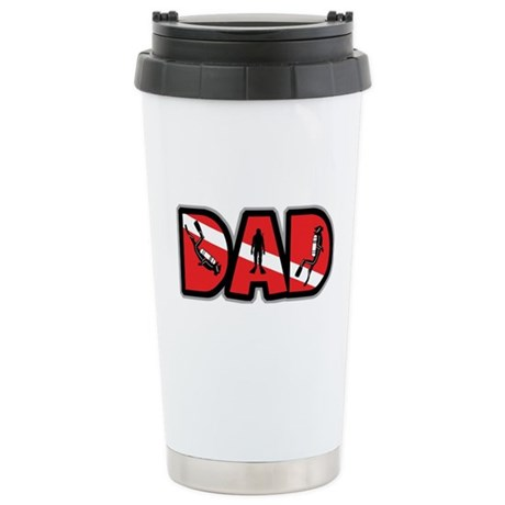 SCUBA Dad Stainless Steel Travel Mug