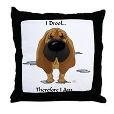 BloodhoundDroolLight Throw Pillow