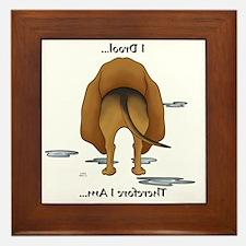 BloodhoundDroolMirrorLight Framed Tile
