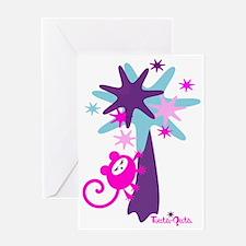 monkey-dream-pink-blue Greeting Card