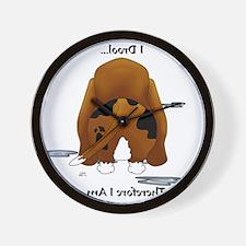 BassetDroolMirrorLight Wall Clock