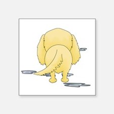 """GoldenDroolMirrorDark Square Sticker 3"""" x 3"""""""