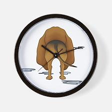BloodhoundDroolMirrorDark Wall Clock