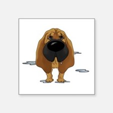 "BloodhoundDroolDark Square Sticker 3"" x 3"""