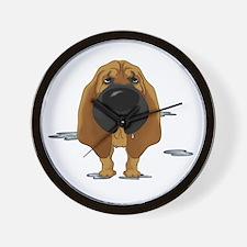 BloodhoundDroolDark Wall Clock