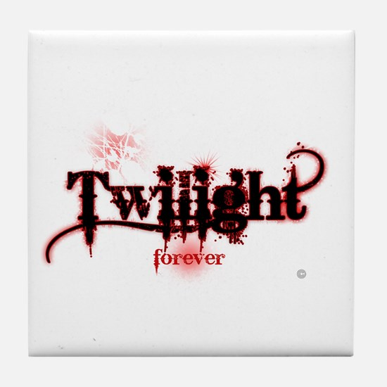 twilight forever for black by twibaby Tile Coaster