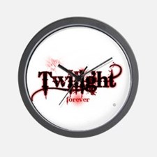 twilight forever for black by twibaby c Wall Clock