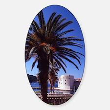 Croatia. Dubrovnik Old City. Ploce  Sticker (Oval)