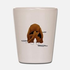 BassetDroolMirrorDark Shot Glass