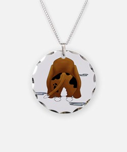 BassetDroolMirrorDark Necklace