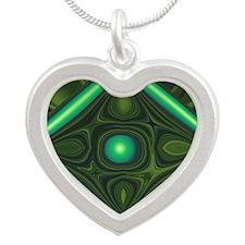 Jade Silver Heart Necklace