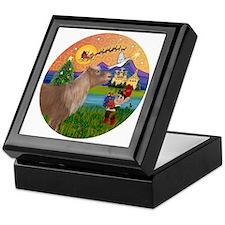 R-XmasFantasy-ShetlandPONY Keepsake Box