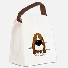 BassetDroolDark Canvas Lunch Bag