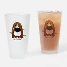 BassetDroolDark Drinking Glass