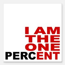 "onepercent Square Car Magnet 3"" x 3"""