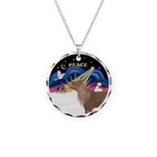 R-XmasSunrise-ShetlandPONY Necklace