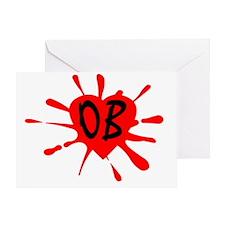 LogoOB orange Greeting Card