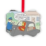 Speeding ticket Picture Frame Ornaments