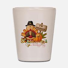 1st thanksgiving copy Shot Glass